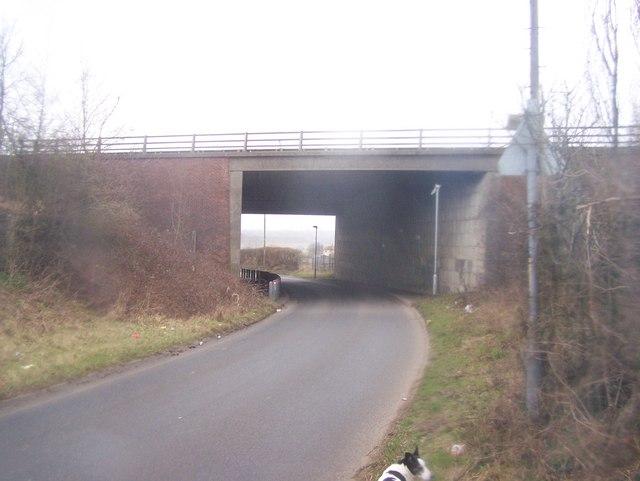 A20 goes over Hockenden Lane.
