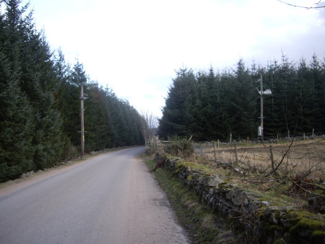 Road between Craiglash quarry and cottage
