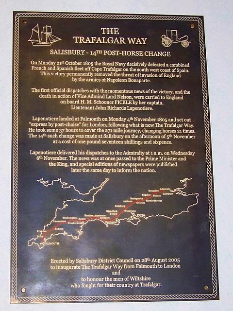 The Trafalgar Way Plaque, Salisbury