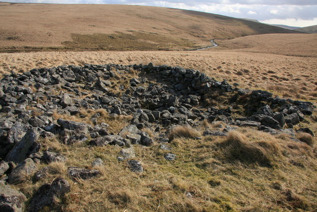 Cairn above Erme Plains