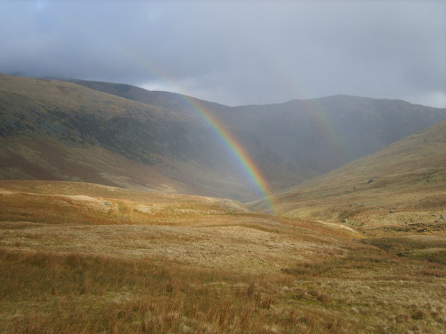 Rainbow above Red Tarn Beck