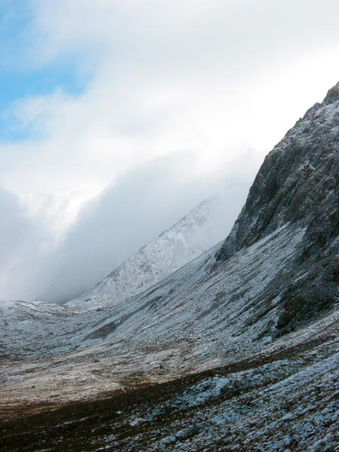 Scarp of Cadair Idris, winter.