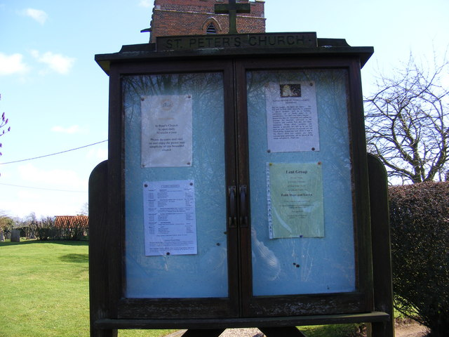 St.Peter's Church, Levington Notice Board