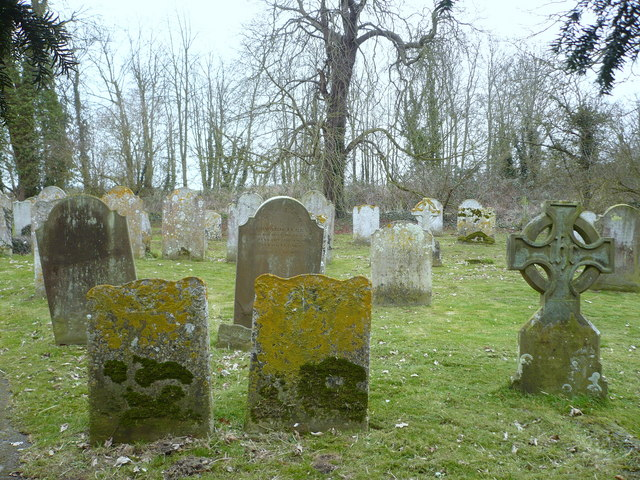 Grave stones in the churchyard at All Saints Church, West Stourmouth