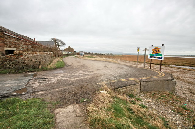 Road and Coastal Path to Bank End