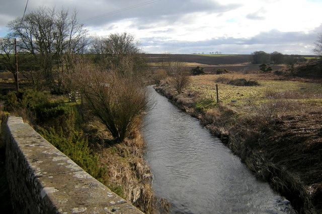 Lunan Water near The Grange, looking upstream