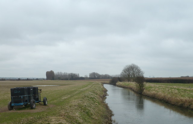 Looking eastwards at the Little Stour from a footbridge