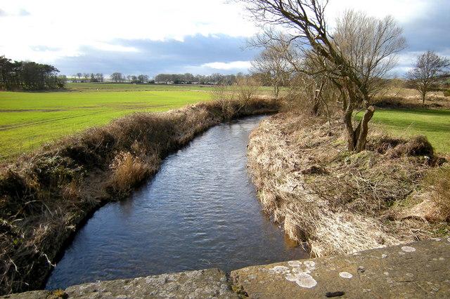 Lunan Water near Balmullie, looking upstream