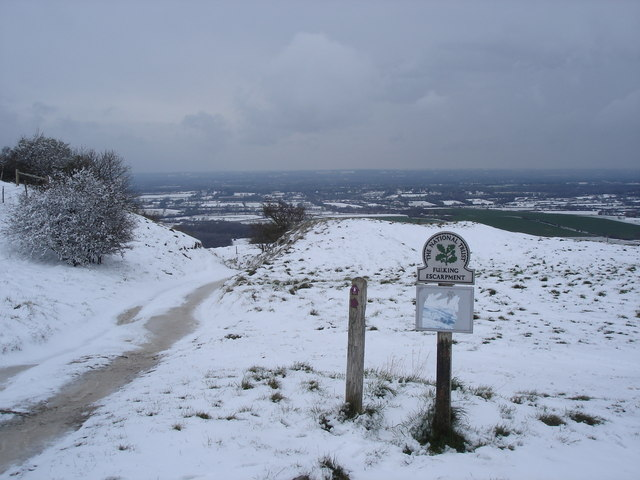 Top of Fulking Escarpment - between Truleigh Hill and Edburton Hill