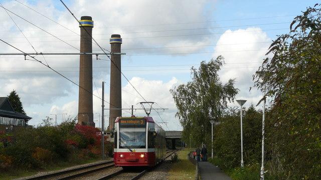 Tram Approaching Waddon Marsh Stop