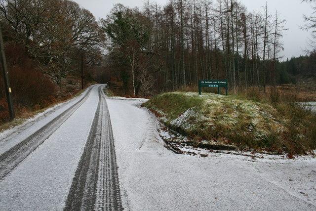 Road near Sailean nan Cuileag, Loch Sunart