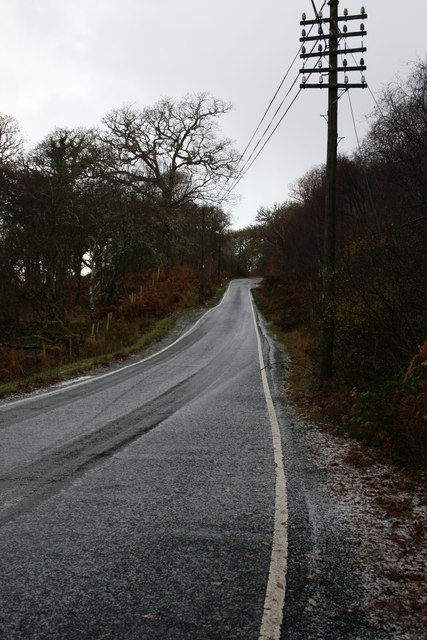 Road near Resipole after hail