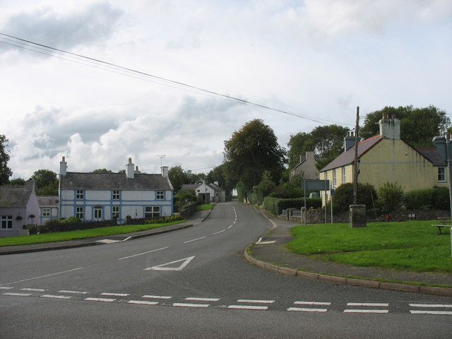 The B5109 at Talwrn Crossroads