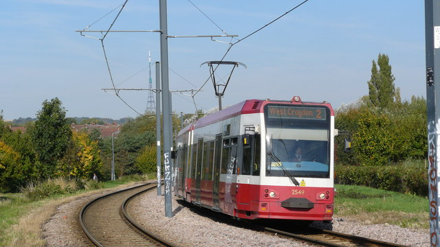 Tram in South Norwood Country Park