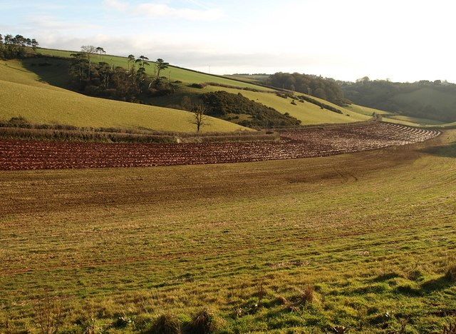 Partly ploughed field by Higher Ramshill Lane