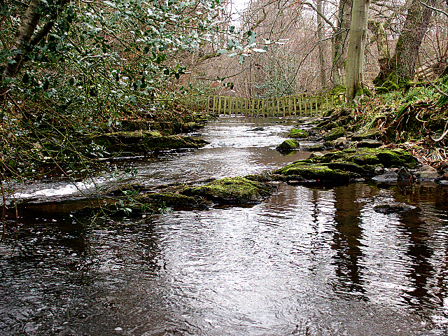 Water gates on the Waren Burn