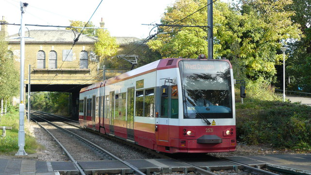 Tram at Woodside