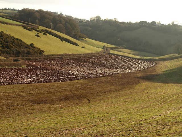 Partly ploughed field by Higher Ramshill Lane (2)