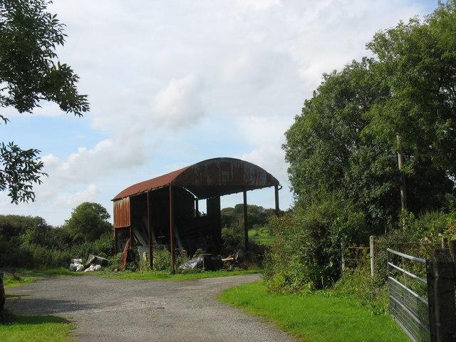 A hayshed at Glanrafon