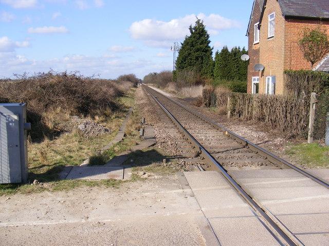 Along the tracks looking towards Nacton