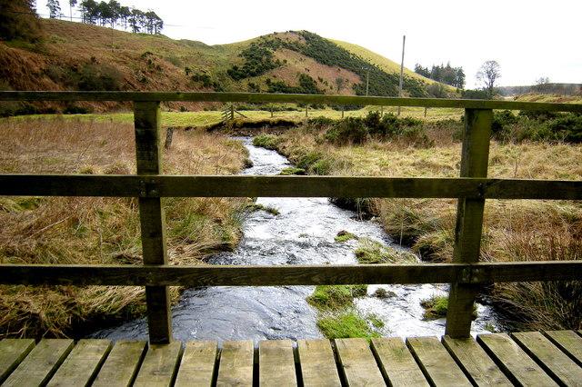 Slack Burn, looking downstream, at Clatterin' Brig