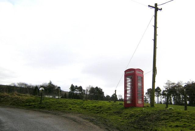 Telephone Box near Glensaugh