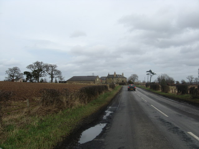 The B6460 approaching crossroads