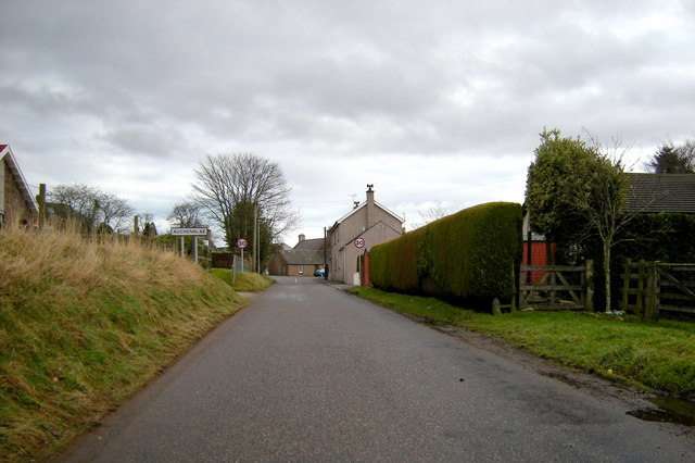 Entering Auchenblae from Drumtochty