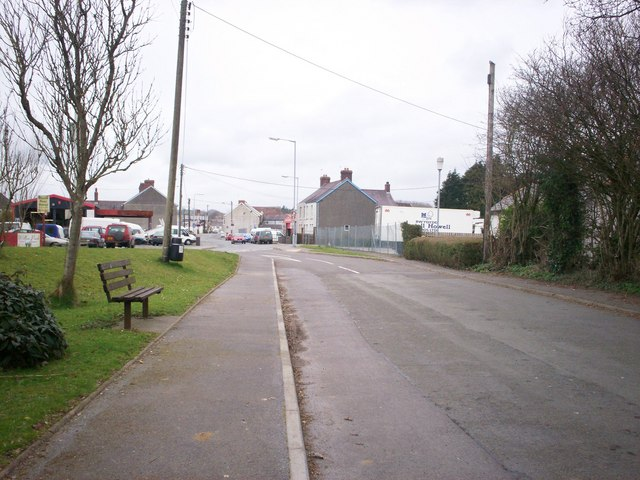Road leading from St Mary's Church towards Station, Whitland