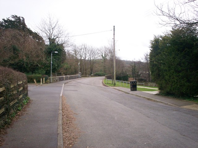 Road leading to St Mary's Church, Whitland - now a dead-end