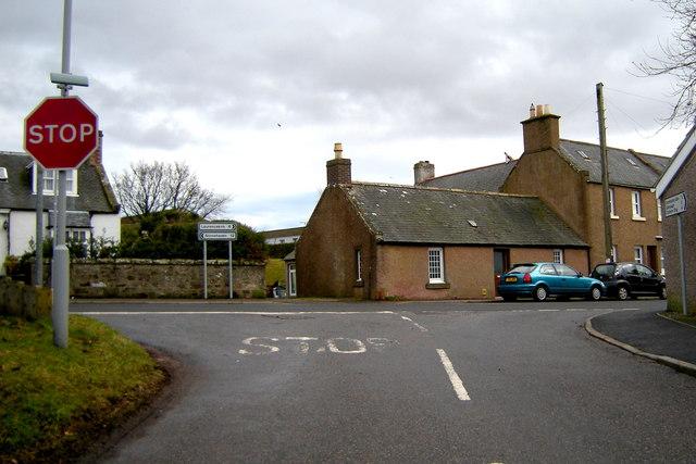 Drumtochty Glen Road at its junction with Laurencekirk / Stonehaven Road