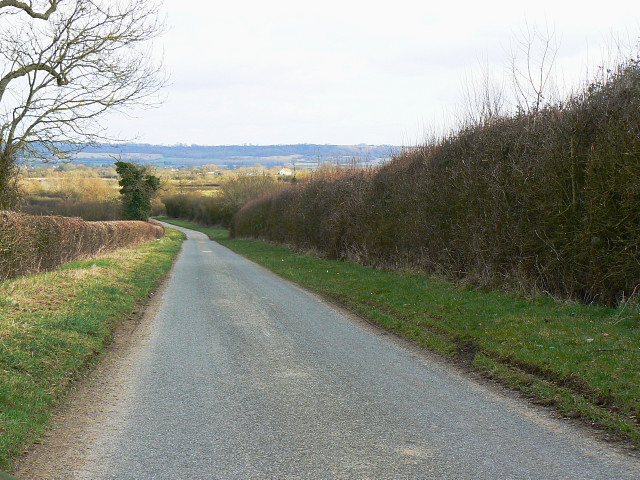 The road to several places in north Wiltshire
