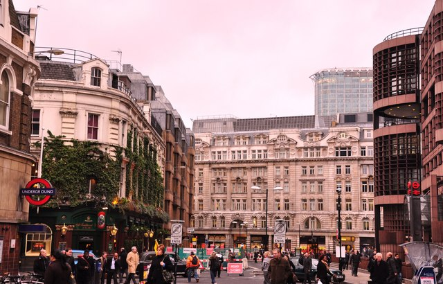 West along Liverpool Street