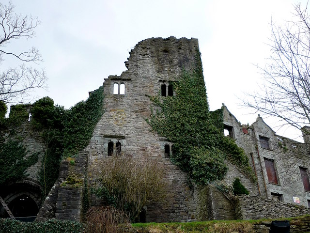Derelict castle in  Hay-on-Wye