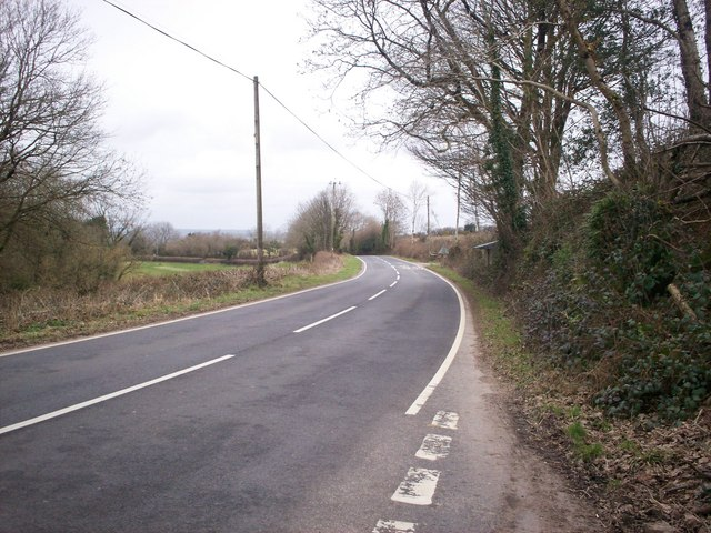 Road Junction near Ciffig