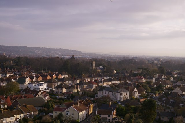 St Nicholas church tower, Uphill