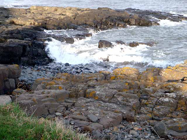 Rocky shore south of Craster