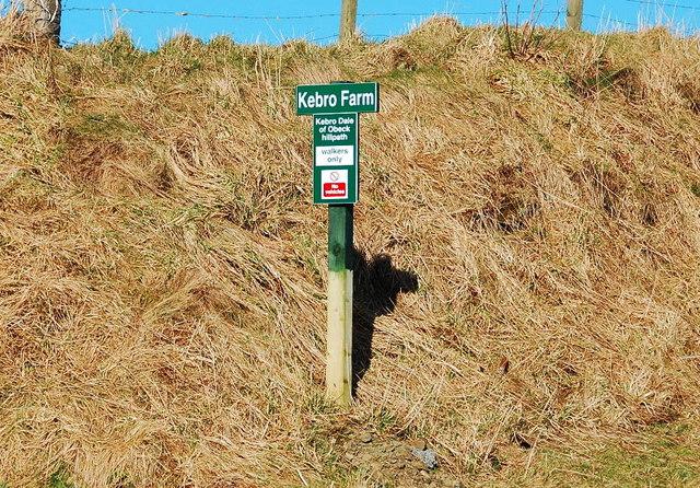 Signpost near Kebro