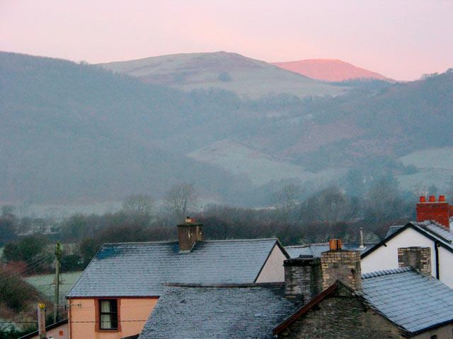 December morning, Machynlleth