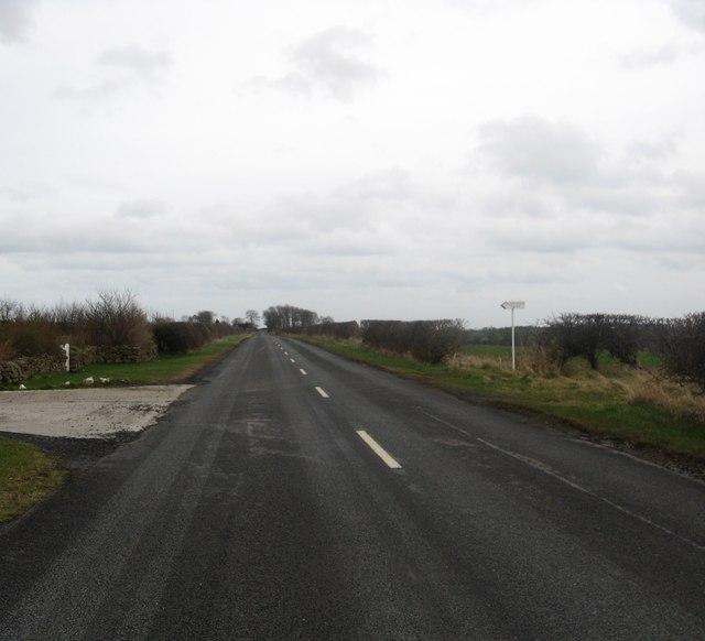 Minor road heading through the Blackadder area of Berwickshire