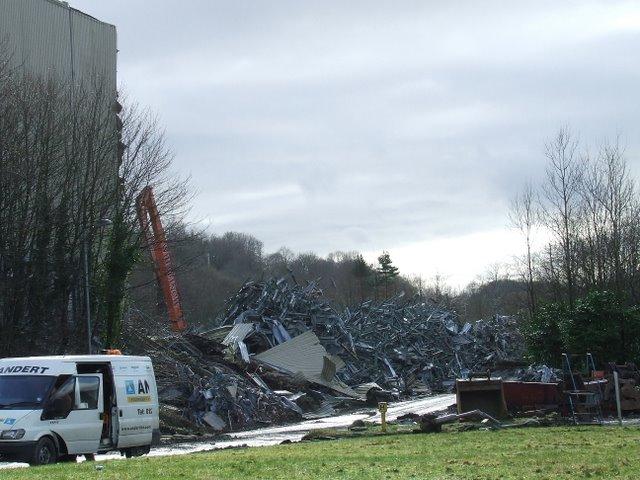 Demolition in Spango Valley