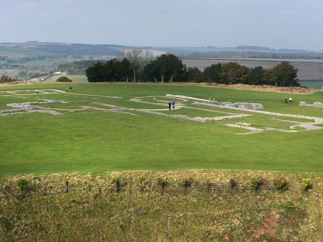 Old Sarum , site of the original cathedral