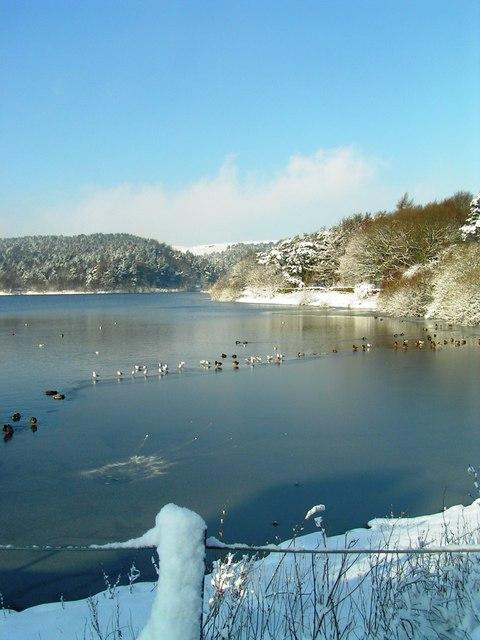 Ogden Water taken in snow on 3rd February 2009
