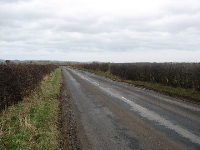 The B6460 passing Crossrig Farm