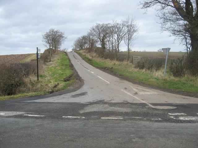Road leading to Broomdykes Farm