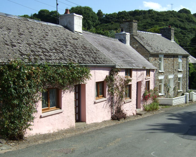 Salmon pink cottages