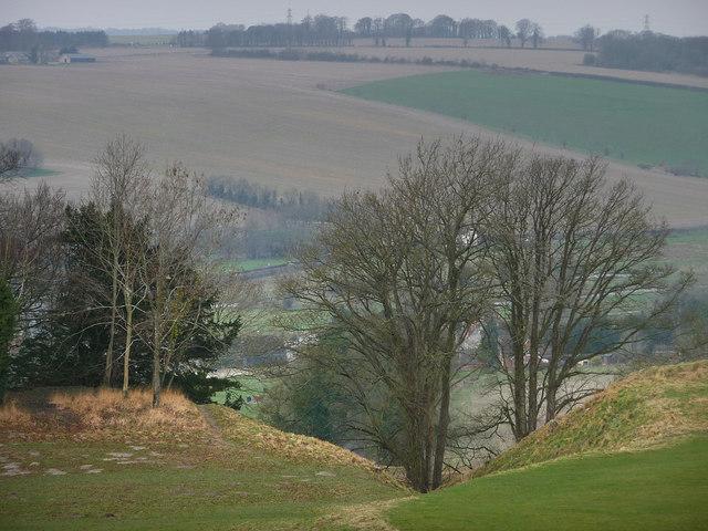 Old Sarum, footpath through the earthworks