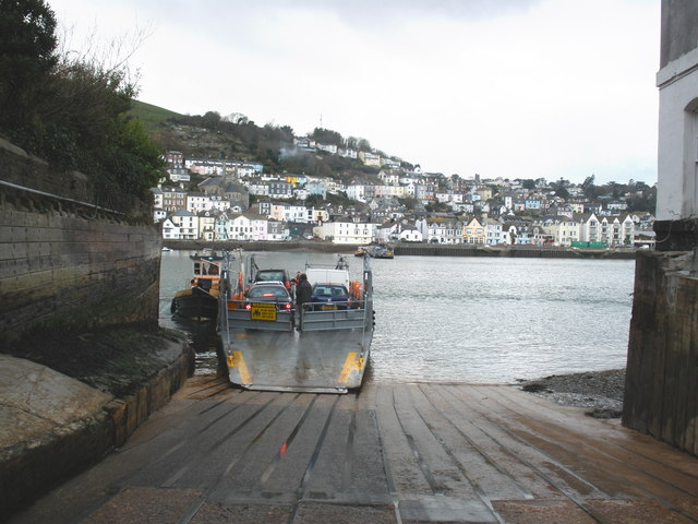 The lower vehicle ferry at Kingswear