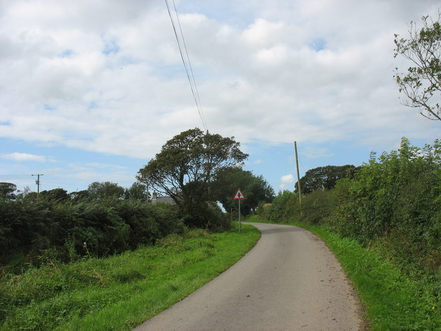 Approaching Cerrig Turn crossroads