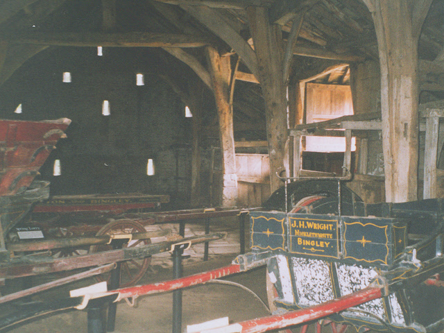 Interior of the old barn at East Riddlesden Hall